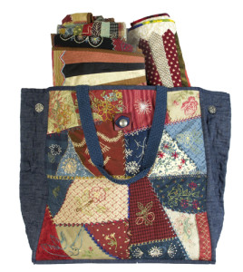 Embroidered Patchwork Tote Bag