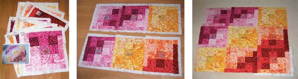 Quilting-on-the-Go shows you how to quilt one block at a time!
