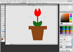 A rough, but simple tulip I created for an applique project in about 5 minutes with an online drawing tool.