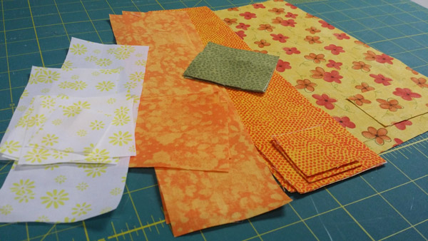 All of the pieces cut out and ready to be sewn together.