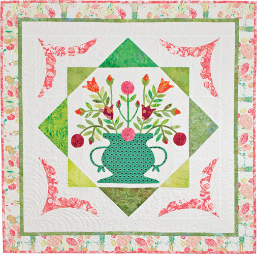 Floral Fancy Wallhanging from Recreating Antique Quilts. Designed, pieced, appliquéd, and quilted by Wendy Sheppard.