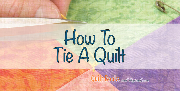 tying a quilt by machine