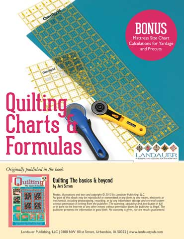Quilting Charts & Formulas Free eGuide Download