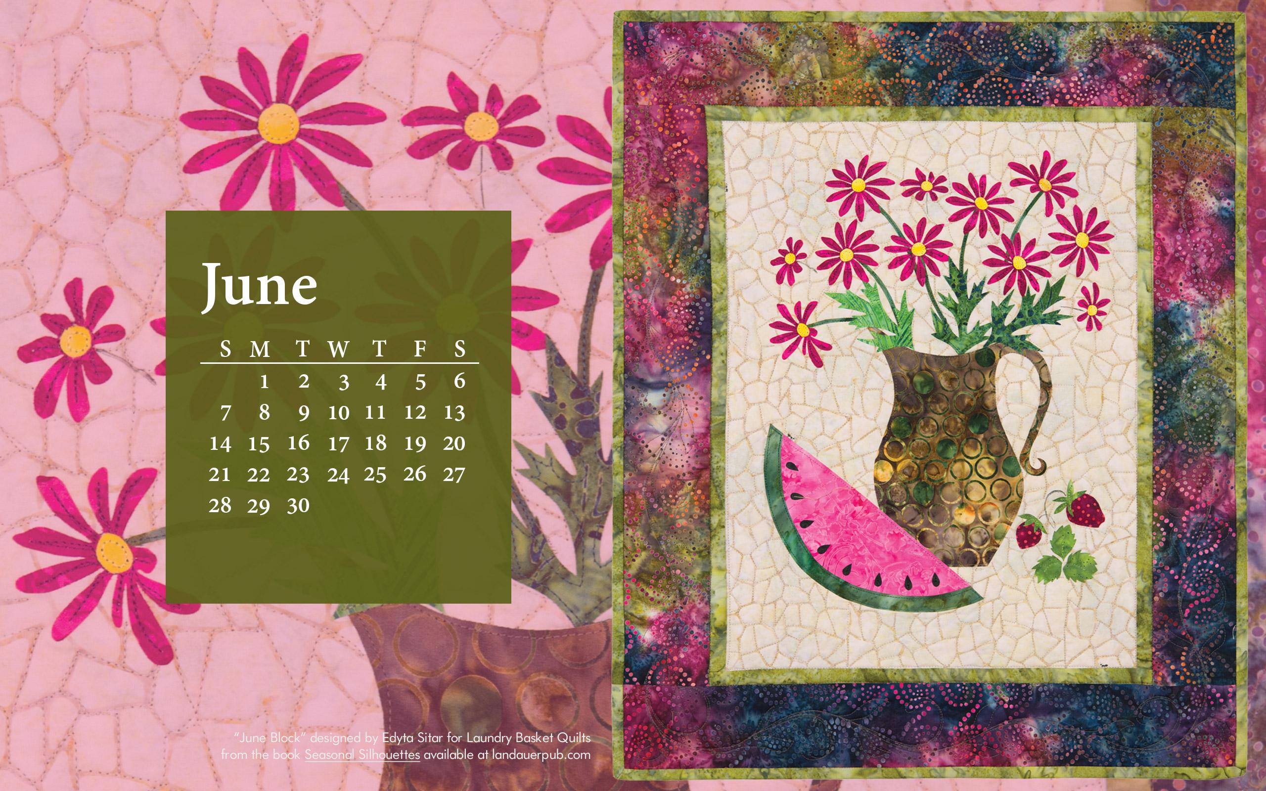 Calendar Girl June Read Free : Free quilt computer wallpaper