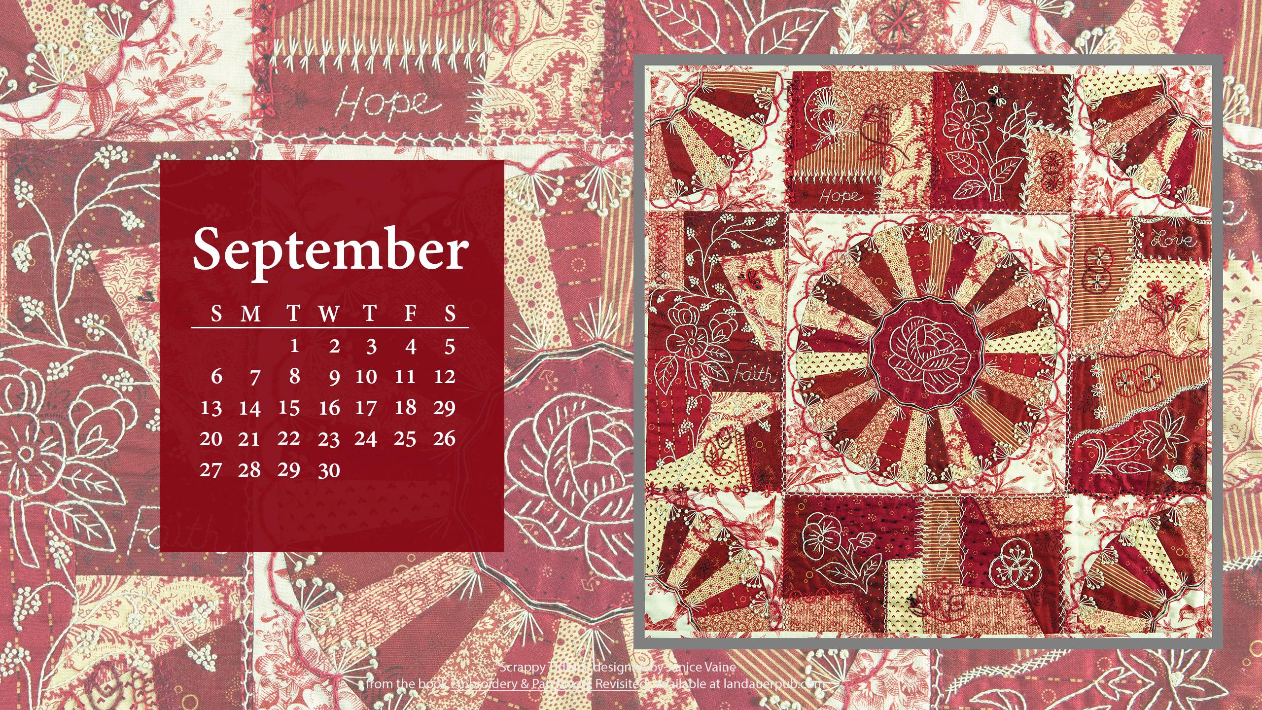 quilt calendar wallpaper 2