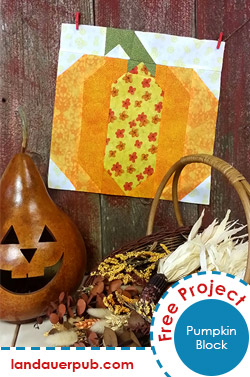 FREE Pumpkin Quilt Block