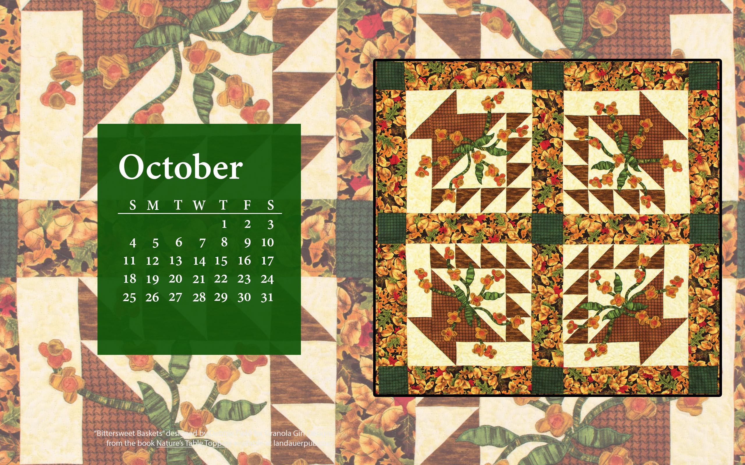 quilt calendar wallpaper 1