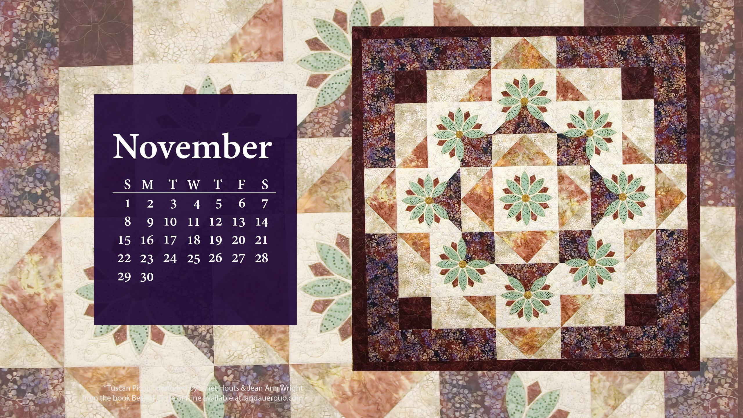 quilt calendar wall paper 2