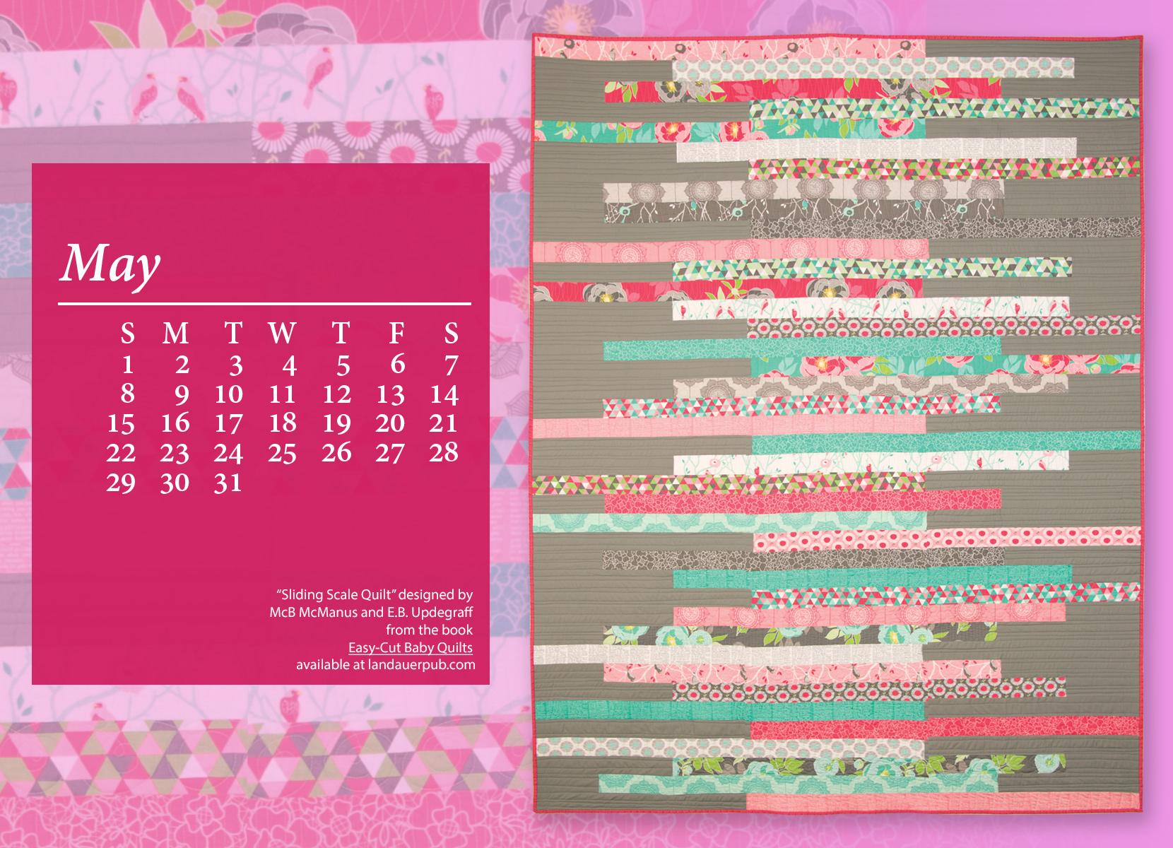 May Calendar Girl Book Free : May calendar a quilt books beyond