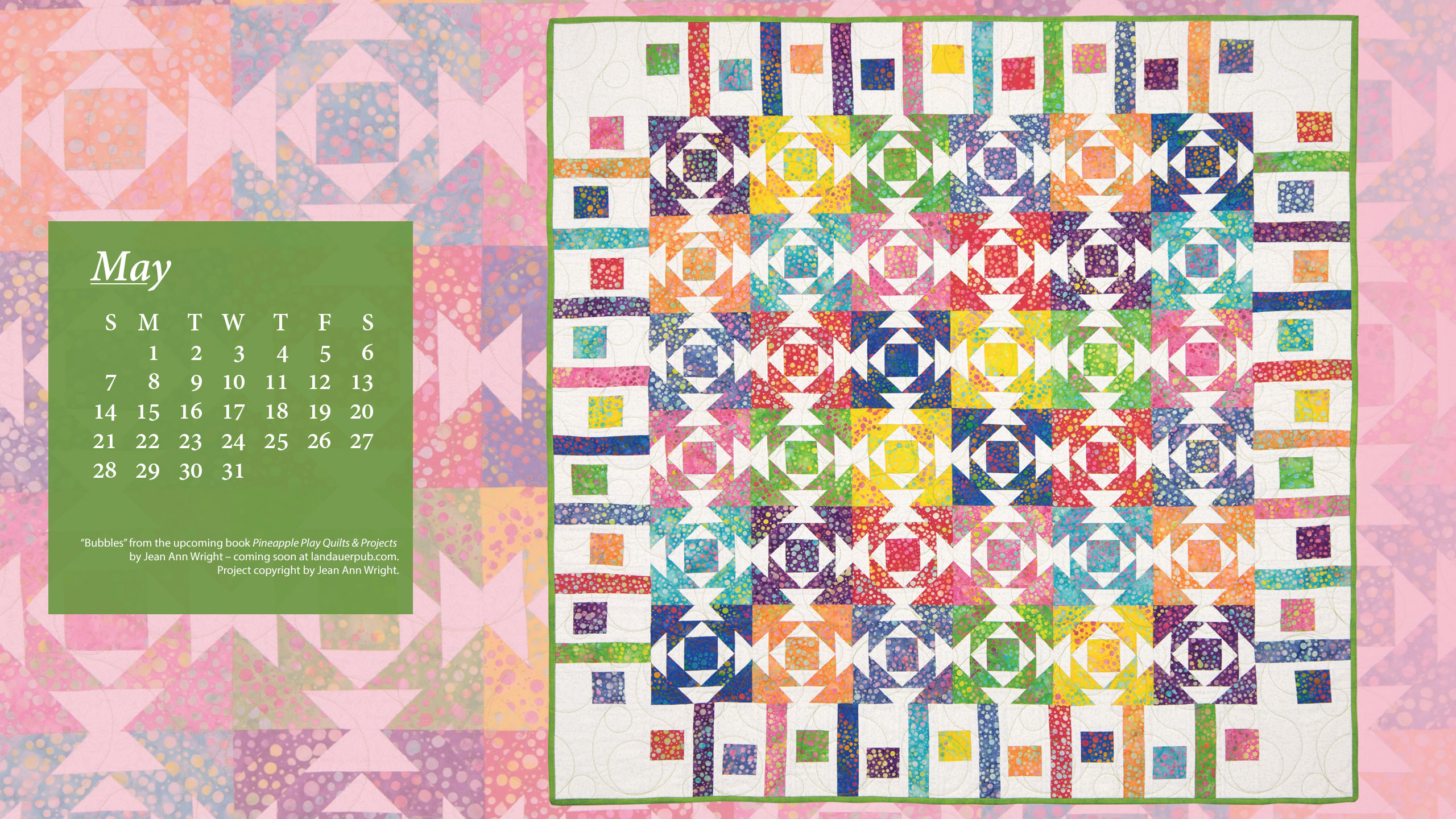 May Calendar Book : May calendar b quilt books beyond