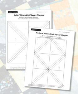 Half Square Triangle Papers