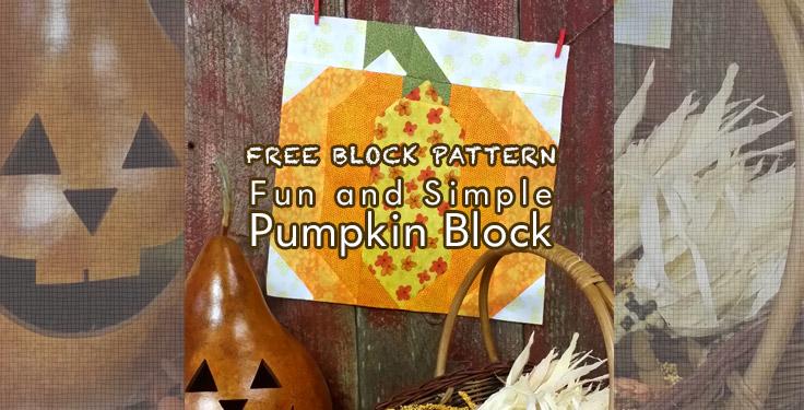 free pumpkin quilt block pattern